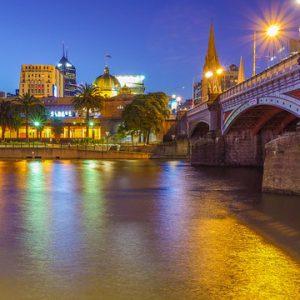 Melbourne Bridge en Australie