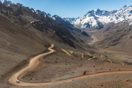 Route andine près de Mendoza en Argentine