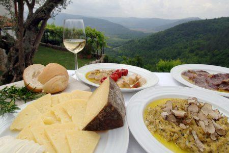 Gastronomie en Istrie en Croatie