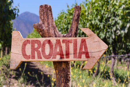 Panneau Croatie en Istrie
