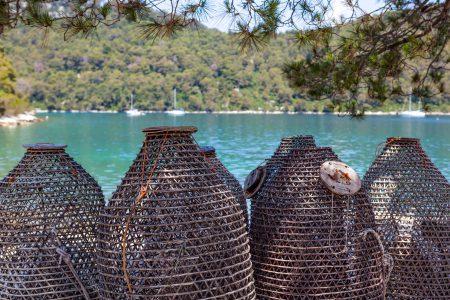 Casier à poisson sur l'Ile de Mljet Dubrovnik en Croatie