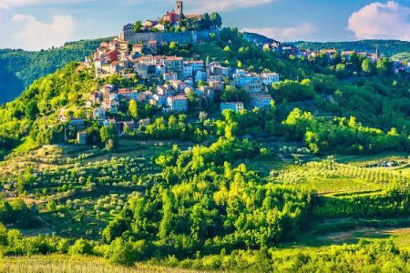 Motovun Village médiéval en Istrie - Croatie