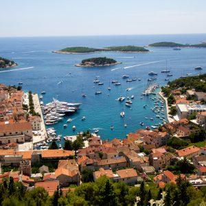 Le port d'Hvar en Croatie