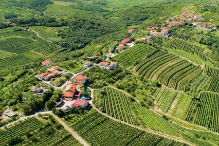 Slovénie_vue aérienne Goriska Hills