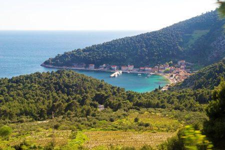 Paysage de la magnifique côte de Croatie